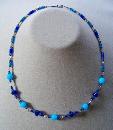 Intense Blue Chunky Necklace