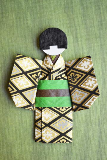 Japanese Paper Origami Doll Naoki