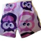 Owl Shorts Purple Toddler Boys