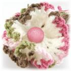 Pink Camo Crocheted Flower and Head Band