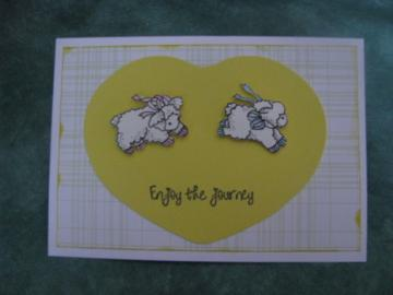 Baby Leaping Lambs Card