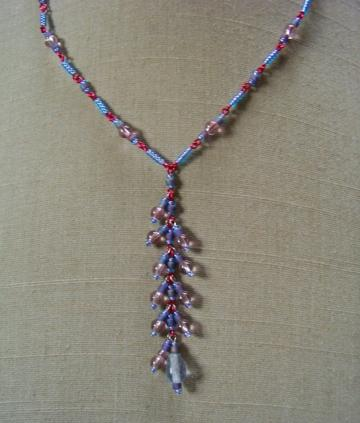 Periwinkle Lilac Cluster Necklace
