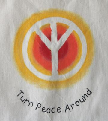 Handpainted Tote Bag ~ Summer Sun - TPA