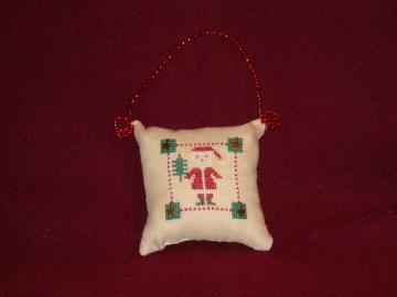 Pillow ,holiday, Christmas, tree, linen