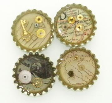 SteamPunk Inspired Refrigerator Magnets  ONLY by TheSteamPunkTrunk
