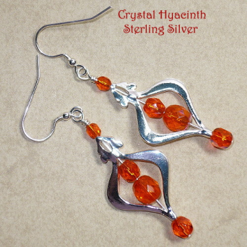 Hyacinth Orange Chandelier Earrings