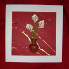 White Calla Lillies in a Vase Card