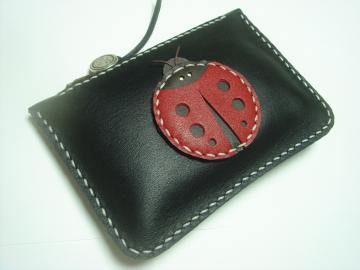 Penny the Ladybug Leather Purse by Leatherprince