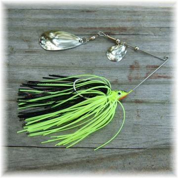 Pop's Spinner Bait Deluxe 3/8 Ounce Chartreuse and Black