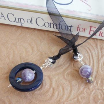 Agate and Amethyst Bookmark Jewels Book Thong