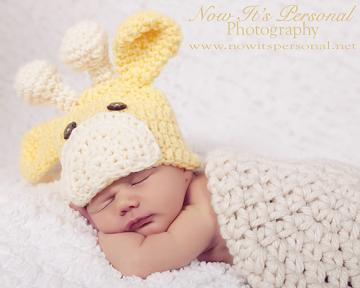 Crochet Pattern Baby Giraffe Beanie Hat PDF 175 - Newborn to 3 Months - Permission To Sell Finished Items - Photography Prop