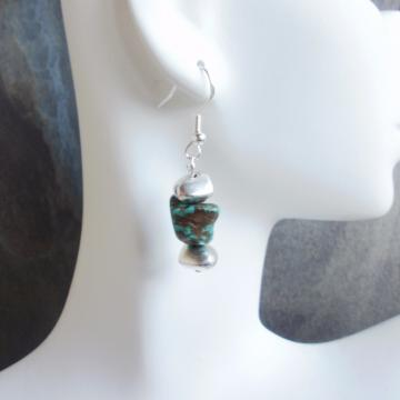 Southwestern Turquoise Nugget Earrings