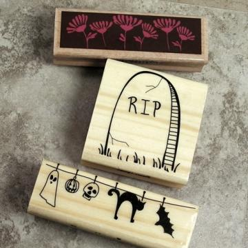 Happy Halloween, Rubber Stamps, Lot of 3