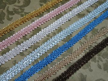 2yds - Pale Blue Chinese Braid Trim