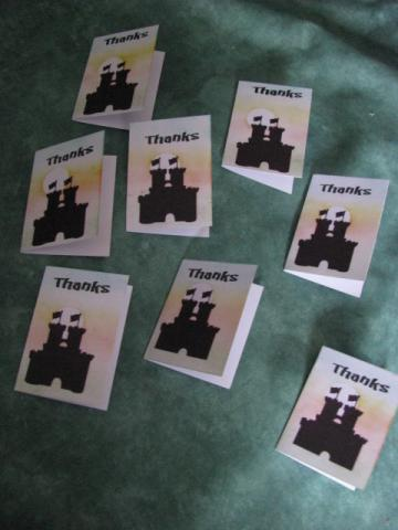 Castle Thanks Mini Card Set of 8