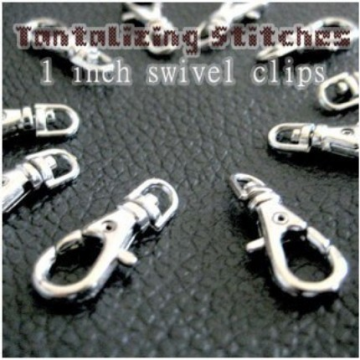 240 Nickel Plated Lobster Swivel Clasps - 1 INCH