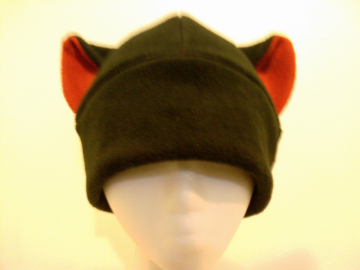 DEVIL BLACK / RED anime hat goth punk ski cosplay