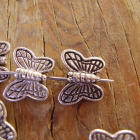 Delightful pewter Butterfly Beads- pkg. of 10 scra