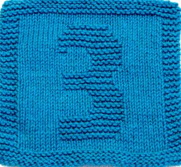 Knitting Cloth Pattern - THREE - PDF