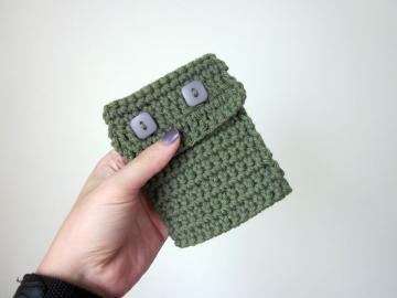 Green Two Button Soft Camera Case