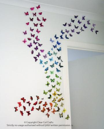 100 pack of Butterflies for Wall art, Bedrooms, Nurseries, Weddings