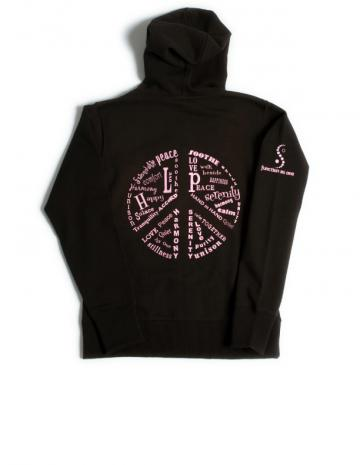 *love okc* **LIMITED EDITION** Organic Cotton Zip Up PEACE Hoodie