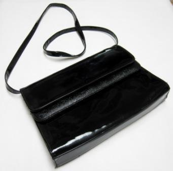 Black Envelope Clutch Purse Vintage