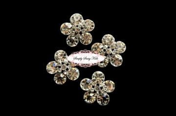 RD87 GoRgEoUs Clear Rhinestone Embellishment Buttons - Add to flowers, invitations, frames, accessories ~ WHERE EVER!