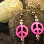 Peaceful Purple Earrings