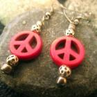 Peaceful Red Earrings