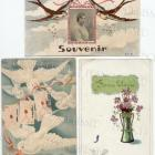 6 Antique BIRD Illustrated postcards French Script