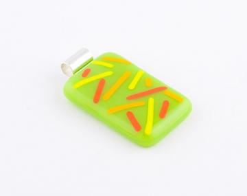 Fused Glass Stringer Pendant