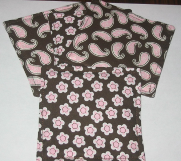4 Retro Pink Flower Paisley Coasters