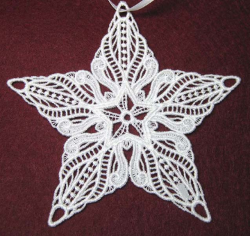 Star Lace Christmas Ornaments - Set of 3