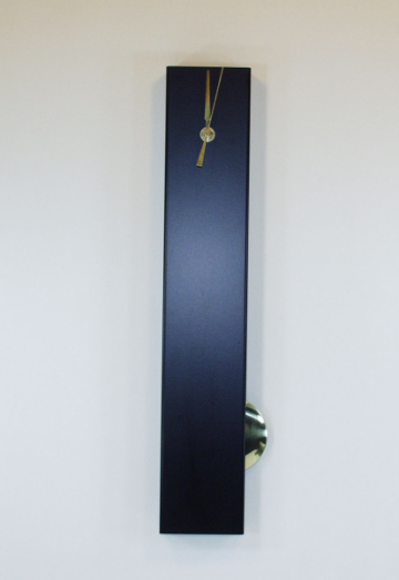 Contemporary Black/Gold slim modern metal clock
