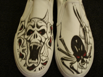 Demons and Spiders Tattoo Inspired Shoes