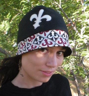cloche hat pattern. Felt Cloche Hat - Fleur De