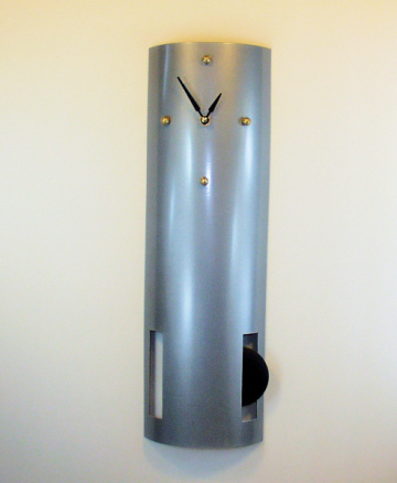 Tall curvy tubular modern wall clock - striking!