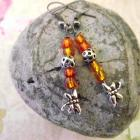 Dainty Dragonflies in Pumpkin Orange