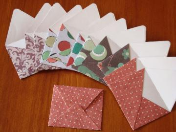 12 Mini thank you cards