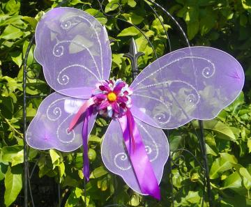 Fairy Wings for Little Girl Butterfly Purple goes well with Any Tutu or for a Dress Up Party