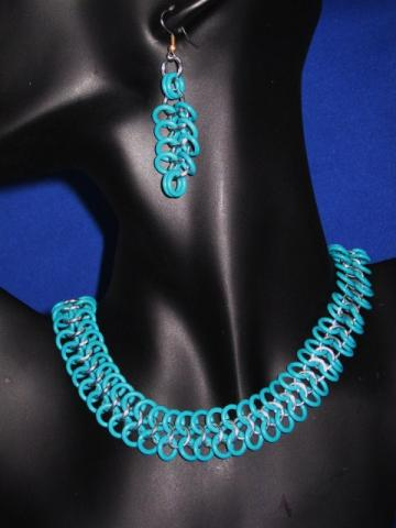 Turquoise and Silver 4 in 1