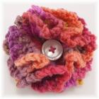 Fiesta Crocheted Ruffle Flower