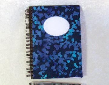 Mini-Journal - Blue Night Batik, Wirebound Notebook, 5 x 7 inches, 70 sheets, college ruled