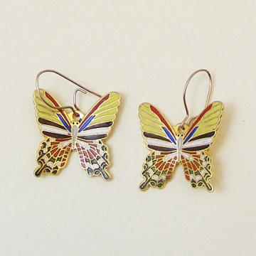 Vintage Aviva Enamel Butterfly Earrings 89-2