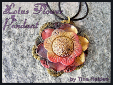 Lotus Flower Pendant - Tutorial - Polymer Clay