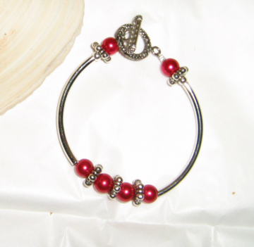 Candy Apple Bangle Bracelet