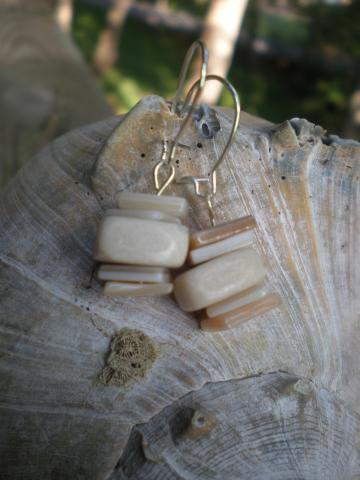 Shells and Stone Earrings