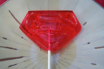8 Superman Lollipop Party Favor Sucker Super Hero