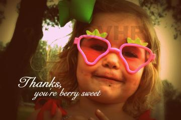 &quot;Berry Sweet&quot; Photo Greeting Card